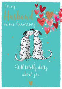 My Husband On Our Anniversary Dalmatians Greeting Card The Wildlife Range Cards