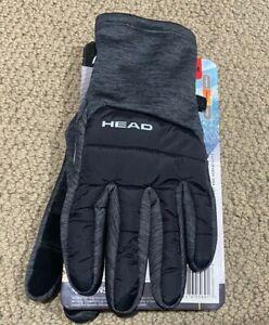 NEW HEAD Men's Hybrid Touchscreen Running Gloves Size LARGE SENSATEC GRAY NWT