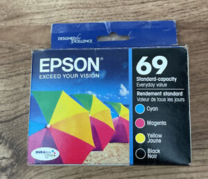 Epson 69 Magenta Cyan Yellow Black Exp 04/2021 Made In U S A