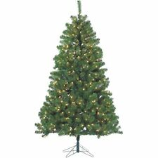Sterling Montana Pine 7' Pre‑Lit Christmas Tree with stand  NEW Open Box