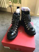 GRENSON BLACK NANETTE HIKING BOOTS BRAND NEW SZ 3 RRP £285
