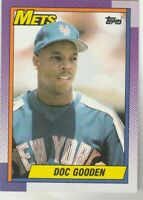 FREE SHIPPING-MINT-1990 Topps Dwight Gooden New York Mets PLUS BONUS CARDS