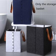Household Dormitory Felt Organizer With Handles Storage Basket Laundry Hamper
