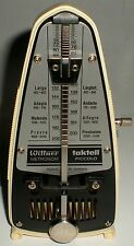 Metronom Wittner Piccolo Pocket Taktell Germany Ivory Tested Working