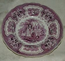 1830-40s Staffordshire LG Round Serving Bowl ADAMS Palestine RARE Mulberry Color
