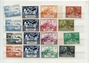 A very nice mixed 1949 unused UPU group of Commonwealth issues
