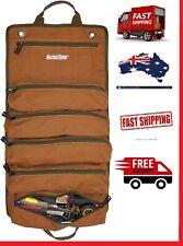 "Bucket Boss Super Roll Tool Roll Canvas Bag 6 Zipper Pockets NEW"""""""