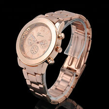 Stainless Steel Charm Women Men's Geneva Anolog Quartz Crystal Wrist Watch Gift