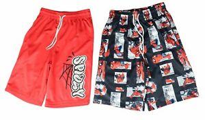 NWT Marvel SPIDER-MAN Spidey  Boys PACK OF 2 Sports  Basketball Shorts M, L, XL