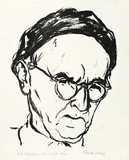 BRUNO BEYE - SELBSTBILDNIS - Lithografie 1961