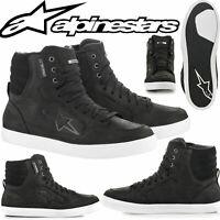 ALPINESTARS Schuhe J-6 WP schwarz weiss Sneaker wasserdicht mit Knöchelschutz