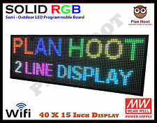 40x15 Led Rgb 7 Color Wifi Usb Semi Outdoor Indoor Programmable Scrolling Sign