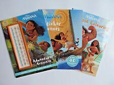 "Disney ""Moana"" set of 3 Activity Sticker Scene & Colouring Book New Children 2+"