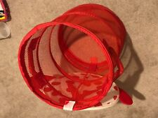 Red Collapsible Laundry Basket