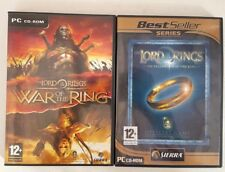 Lord Of The Rings The Fellowship &War Of The Rings PC CD-ROM Games