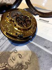 Spindel Silber Taschenuhr Ferdinand Berthoud signiert Pocket Watch Verge antik