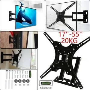 Tilt Swivel TV Wall Mount Bracket 3D LED LCD Plasma For 17 22 30 40 50 55 Inch