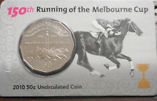 Australia 2010 150th Melbourne Cup  50 cent Coin in Card