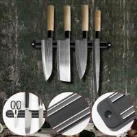Magnetische Messerhalter Wandhalterung Schwarz PP Kunststoff Block Lagerung F0X2