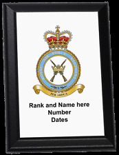 Personalised Wall Plaque - Royal Air Force Regiment crest current style, RAF