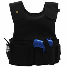 New MC Tactical Level IIIA Body Armor Bullet Proof Vest w/ Holsters / Pockets