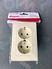 Legrand Cariva 773727 Double 2P+E Type Schuko Socket 16A 250V~ Cream