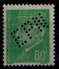 Perforation de NANCY sur Pétain 80c, Neuf ** = Cote 16 € / Timbre France n°513