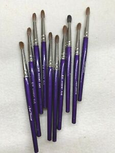 """20  Joan Simmons Small Purple Eye Shadow Accent Brush Makeup Paintbrushes 5"""""""
