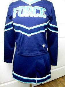 """FORCE All Stars Cheerleader Uniform Outfit Costume Youth XL 36"""" Top 27 Skirt"""