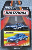 Best of Matchbox '93 FORD MUSTANG LX SSP Police Car 5.0 FOX BODY Sheriff
