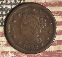 1853 LARGE CENT COPPER COLLECTOR COIN FOR COLLECTION. FREE SHIPPING.