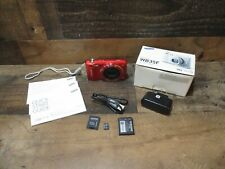 Samsung digital camera 16.2 megapixels 12X zoom Wifi complete w/accessories red