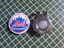 GOLF / New York Mets Logo Golf Ball Marker/with Magnet Hat Clip New!!