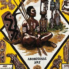 "Australia Aboriginal Art Vintage 1984 Wall Hang Calendar Cotton Cloth 28.5 x 17"""
