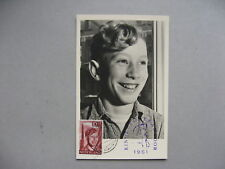 NETHERLANDS, maximumcard maxi card 1951 Children's welfare 10c, extra spec canc.