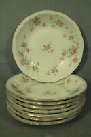 "Theodore Haviland New York Made in America pink roses floral 7 1/2"" bowl"