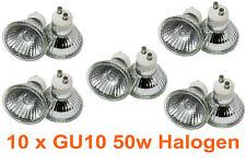 10 X LLOYTRON GU10 50W MAINS 240V DIMMABLE HALOGEN LAMP LIGHT BULBS