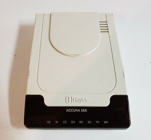 Hayes Accura 03328-A Accura External V.90 56k Faxmodem NO POWER SUPPLY