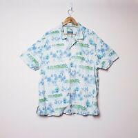 Tommy Bahama Mens 2XL XXL Island Modern Fit Hawaiian Button Up Palm Silk Shirt
