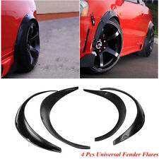 4 Pcs Universal Auto SUV Black Fender Flares Flexible Durable Polyurethane Trim