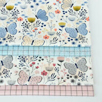 50*160CM Baumwolle Nähen Stoff Schmetterling Gitter Patchwork DIY Baby Kleidung