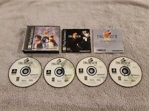 Final Fantasy VIII (PlayStation 1, 1999) BLACK LABEL - COMPLETE IN BOX