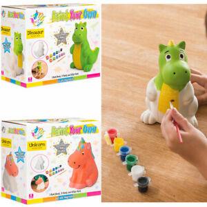 Paint Your Own Piggy Bank Ceramic Novelty Money Box Saving Kids Craft Gift