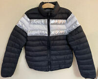 NWOT Forever 21+ Size 0X 12 L XL Reflective Puffer Jacket Coat Zip Up Women's