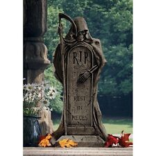 Grim Reaper Angel of Death Cemetery Tombstone Statue Halloween Gothic Decor Art
