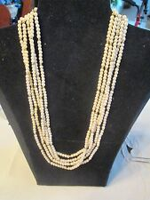 "VINTAGE AVON*PEARLESQUE AND GOLD BEADS NECKLACE*105 1/2"" LONG*1988*NEW*RARE*"