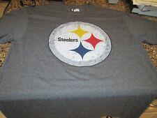 Pittsburgh Steelers T-Shirt - Gray - Medium - NFL Team apparel