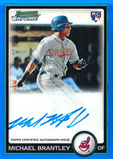 2010 MICHAEL BRANTLEY ROOKIE BOWMAN CHROME BLUE REF. AUTO 170/250 MINT !