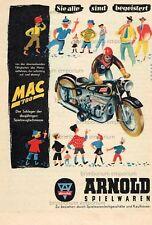 Arnold Spielwaren MAC 700 Blechspielzeug Motorrad  - Original Anzeige von 1951