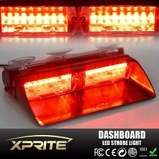 Red 18W Flash Strobe Windshield Emergency Hazard Light 16 LED For Interior Dash